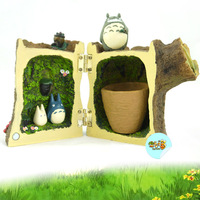 Totoro totoro resin roots stairwells style doll exquisite cartoon toy action figure