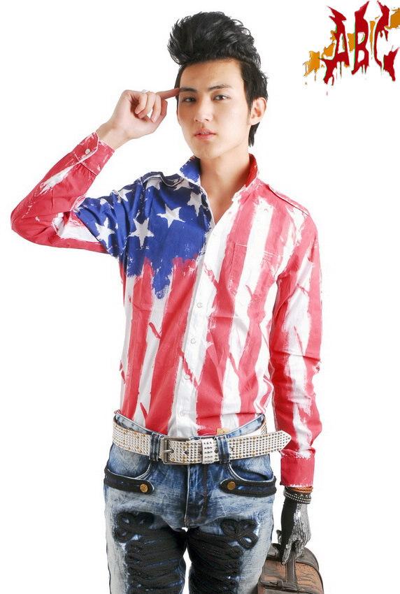 Amerikaanse vlag shirt heren koop goedkope amerikaanse vlag shirt heren loten van chinese - Mode stijl amerikaans ...