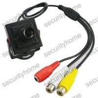 Mini CMOS 420TVL 2.8mm Wide Angle Color A/V CCTV Camera MIC 100 Degree