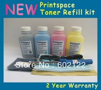 4x NON-OEM Toner Refill Kit + Chips Compatible For HP CP1215 CP1515 CP1518 CM1312 CB540A-543A KCMY Free shipping