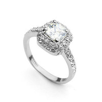 18K Rose/White Gold Plated Austrian Crystals Jewelry Full Sizes Wholesale Fashion Design Engagement Finger Rings 1729459