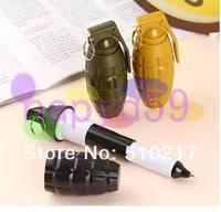 free ship 90pcs creative personality CF Cross Fire grenade pen retractable ballpoint pen Oil pen advertising Pen