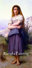 100% Handpainted high quality Bouguereau painting reproduction on canvas(China (Mainland))