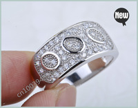 fashion jewelry free shipping Wholesale Fashion Design Micro pave CZ stone 925 Sterling silver ring BJ1
