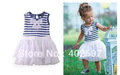 2013 hot sell cute baby girl's sleeveless dress for summer ,children tutu dress ,free shipping 5 pcs / lot