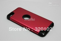 2 in 1 Aluminum+ Silicone Hard Back Case for Apple ipod touch 5 200PCS