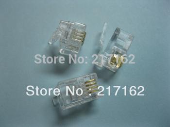 600  pcs  4P4C Modular Plug Telephone Connector HOT Sale