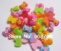 HJ006 flatback buttons 25pcs mixed colors 18mm*14mm bowtie buttons for children garment