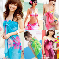 Sexy Pareo Dress Sarong Bikini Cover Up Scarf Wrap Swim swimwear Beach Beautiful Charming 15 Colors AL2123 BJN029