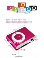 10sets/lot MINI Metal clip MP3 Player with Micro TF/SD card Slot+earphone Support 1-8GB MicroSD card free dropshipping
