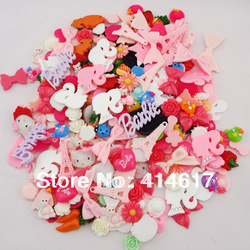50pcs Cute Mix Flatback Buttons(no Holes) DIY Kid's Craft Scrapbooking B030(China (Mainland))