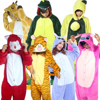 Adult onesie Cartoon animal one piece lounge stitch sleepwear coral fleece