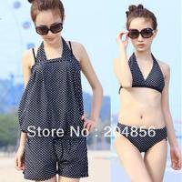 free shipping swimsuit bikini swimwear female one-piece dress bikeways hot spring swimwear