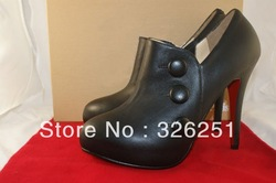 Fashion Design Brand High Heel Boots Women black Ankle Boots(China (Mainland))