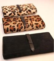 New!autumn and winter  vintage brief genuine leather horse hair wallet elegant purse