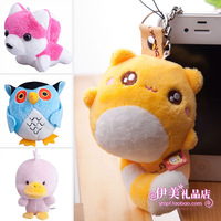 Husky doll bags pendant plush toy with dust plug cell phone accessories gift