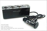 multi-purpose car smoking lighter with anther three smoking lighter terminals  and one USB terminal.