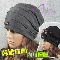 Hat female autumn and winter pocket hat women hat pile cap female turban male