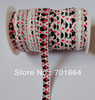 White 5/8&quot; foe fold-over elastic webbing with hot red mickey printing for hair accessories kits and jewelry finding