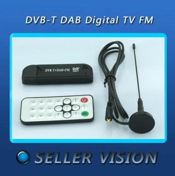 New Cheap FM+DAB USB DVB-T RTL2832U+R820T w/ MCX antenna Hotsale!