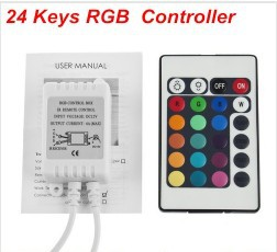 DC 12V 24 keys 16 Colors IR RGB Remote Controller Box for LED Strip Light