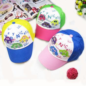 LOWEST  PROMOTION new kids toys Fashion baby hat summer child hat button car child baseball cap sun-shading sun hat