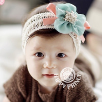 LOWEST PROMOTION Fashion baby hair accessory chiffon flower lace child wig hair band baby hair accessory hair band