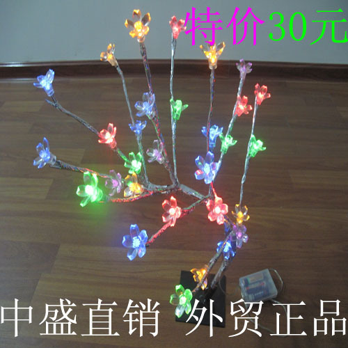 new year Lantern LED wedding holiday garden landscape cherry colored small tree lights operate with battery light(China (Mainland))