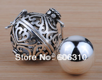 H20-a3 Wholesale Custome Jewelry 1pc Fashion 925 Silver Cage and Silver Harmony Ball Pendant for pregnant woman
