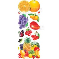 Free shipping  I home refrigerator stickers fruit refrigerator decoration stickers electrostatic stickers dl309