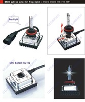 Glorious 35w 55w 2012 new arrival mini hid kit all-in-one HID lamp kit H8 H9 H10 H11 9005 9006
