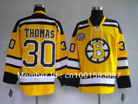 Fast Shipping Cheap Hockey jerseys Men's cheap Jerseys Boston Bruins #30 Tim Thomas Stitching Winter Classic Yellow Hockey jerse
