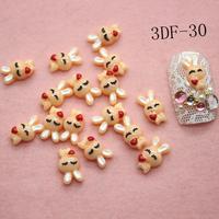 Free Shipping-200pcs Nail Art Resin 3D rubbit nail art accessories