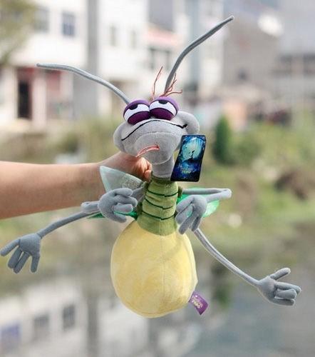 Free Shipping wholesale Stuffed Plush Firefly Ray Mint Cartoon the Princess and the Frog(China (Mainland))