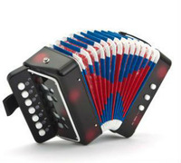 free shipping, Children accordion organ educational baby instrument toys, classical music early red  black blue color