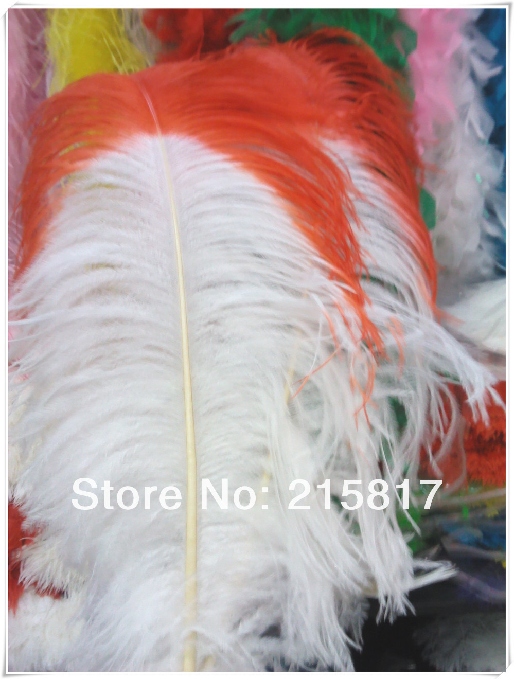 "Express Free Shipping 50pcs/lot 28-30"" White Ostrich Feathers Centerpieces Dyed Littler Beautiful Red for Weddings OF053(China (Mainland))"