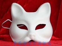 DIY mask CAT pulp mask for Halloween cosplay mask 2pcs