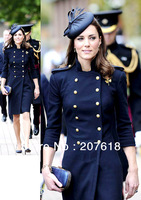 New Women Long Wool Coats Kate Middleton Double Breasted Trench Coat Celebrity Style Autumn Winter Outerwear