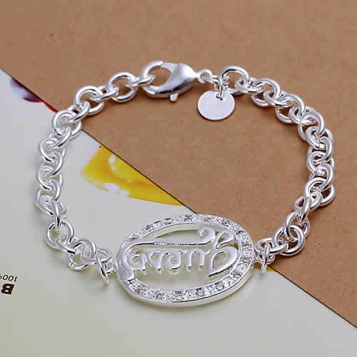 Free Shipping Wholesale 925 silver bracelet, 925 silver fashion jewelry guesses Egg Shape Bracelet H224(China (Mainland))