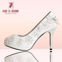 Urged bride wedding shoes 2013 new arrival handmade beaded wedding shoes white wedding shoes bridal shoes 089
