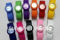 105pcs/lot high quality children slap watches kids slap quartz watch color face with logo ss.com watches DHL free shipping H04