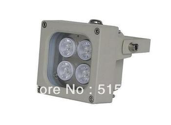 Infrared IR LED built-in 4 high power IR LEDs Illuminator for Indoor/Outdoor CCTV Security Camera Fill light Infrared range 45M