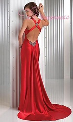 Free Shipping Sexy Red Prom Dress by wedding online store(China (Mainland))