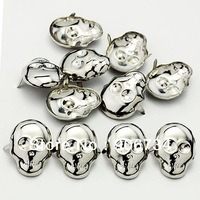 Free Fashion Punk Rock Spike Leathercraft Nailheads Screwback Skull Shape Studs 100pcs