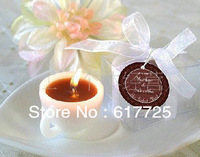 1Piece/Lot , Free Shipping  , Reasonable Price , High Quality , Coffee Cup Candle Incense Candle Romantic Candle Gifts