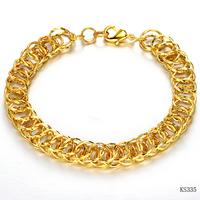 wedding party fashion Fashion accessories Multi-ring 18k gold jewelry women's bracelet bangle hand ring ks335