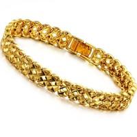 women wedding party fashion jewelry 18k gold elegant hand ring watch belt chain bracelet bangles ks360