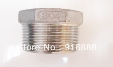 SS304 Bushing, 3/4-1/4 bushing,stainless steel plug, reducer union,barbs,pipe fittings, barb fitting,Free shipping,100pcs a lot(China (Mainland))