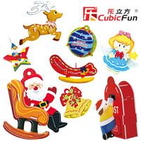 CubicFun 3D puzzle  Christmas Ornaments educational diy toy model free air mail