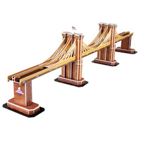 CubicFun 3D puzzle Brooklyn Bridge educational diy model toy free air mail